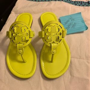 Tory Burch Shoes - Tory Burch neon yellow Millers